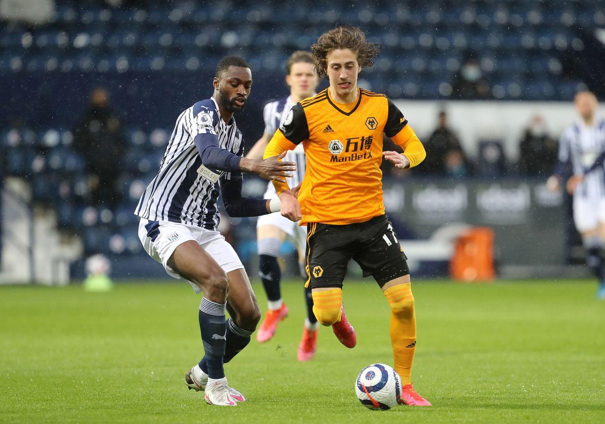 West Bromwich Albion's Semi Ajayi (left) and Wolverhampton Wanderers' Fabio Silva.