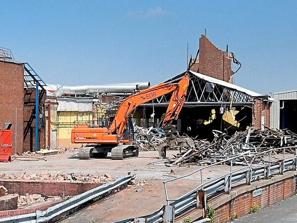 Remains of Goodyear factory wiped from Wolverhampton skyline