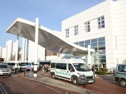 Patients being treated in corridors at Russells Hall Hospital