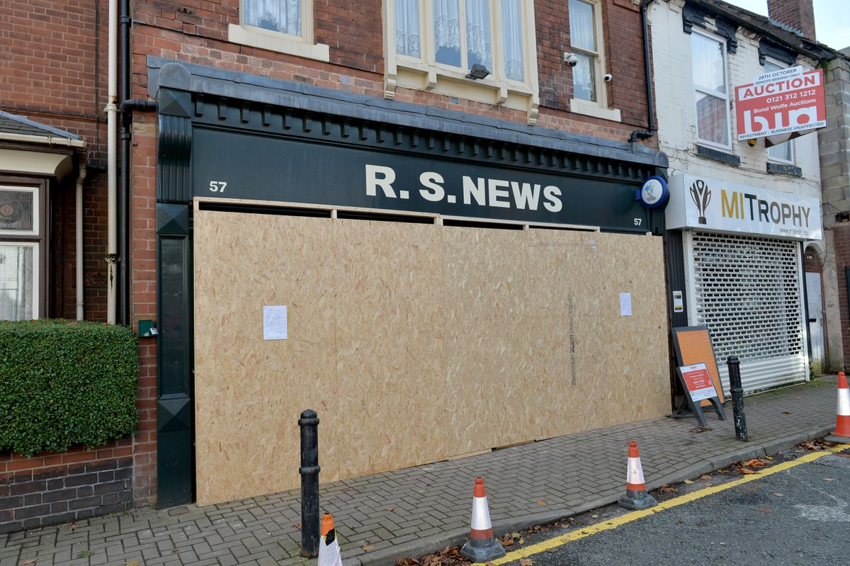 R.S News on Wolverhampton street Willenhall was ram-raided in the early hours of October 21.