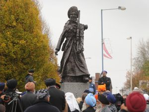Unveiling of the Lions of the Great War statue in Smethwick