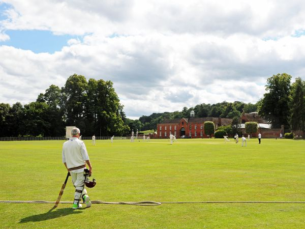 Enville cricket ground with Enville Hall as a back drop in South Staffordshire. Picture: Graham Gough