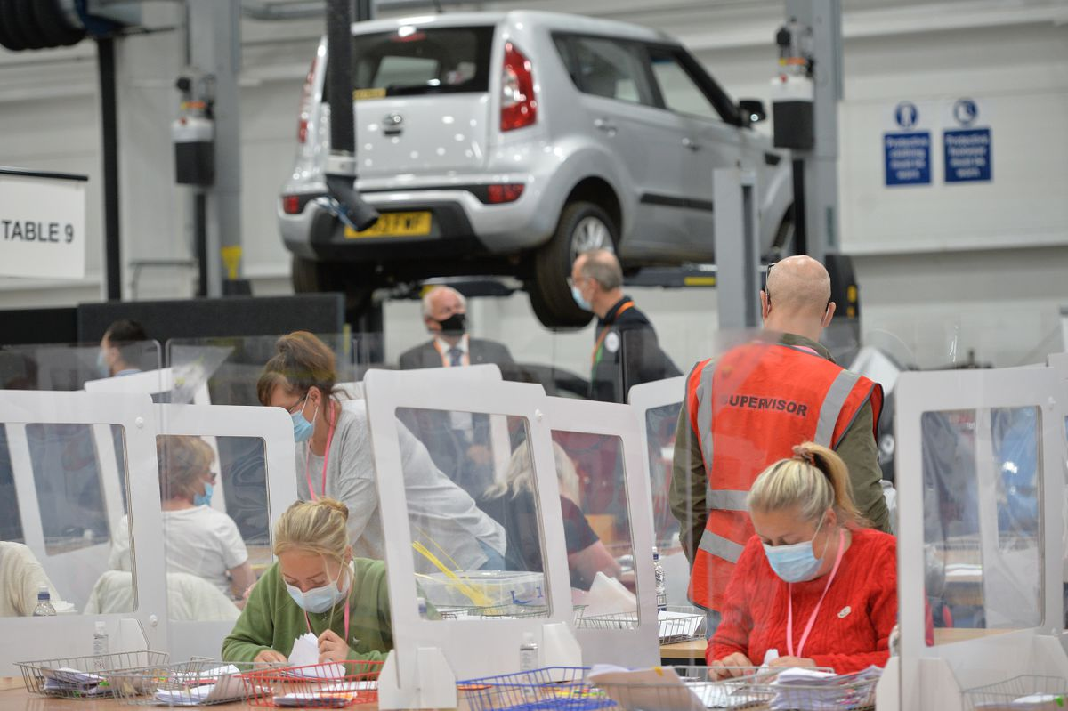 The Wolverhampton count was held at transport training centre GTG West Midlands