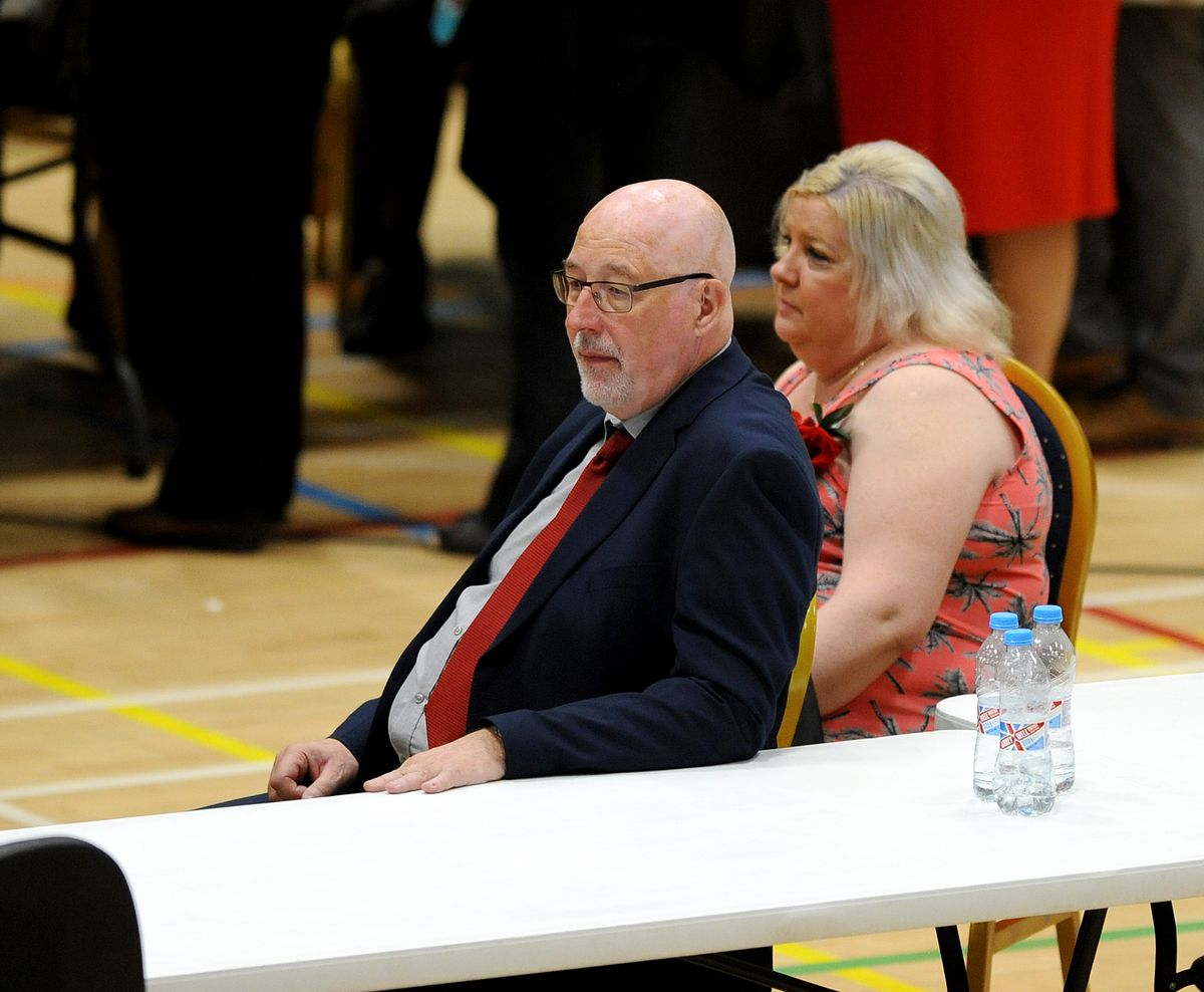 Walsall Labour leader Sean Coughlan lets the results sink in