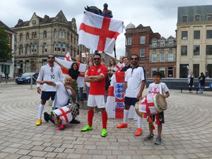 Members of Back2Back and Dance Force Wolves get ready to dance through Wolverhampton. Rana Singh is at the front