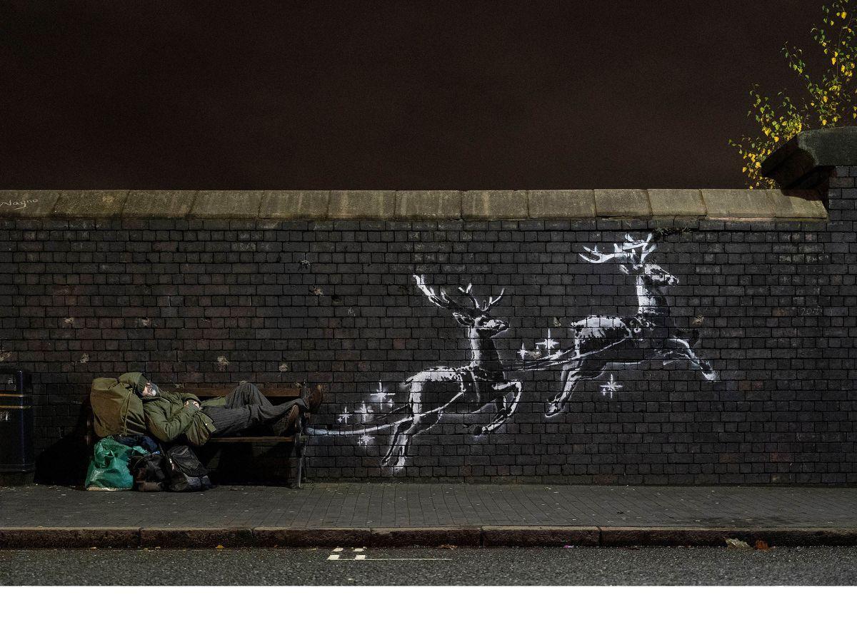 Banksy's new installation in Birmingham