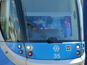 Boris Johnson drove one of the West Midlands Metro trams in the run-up to this year's elections