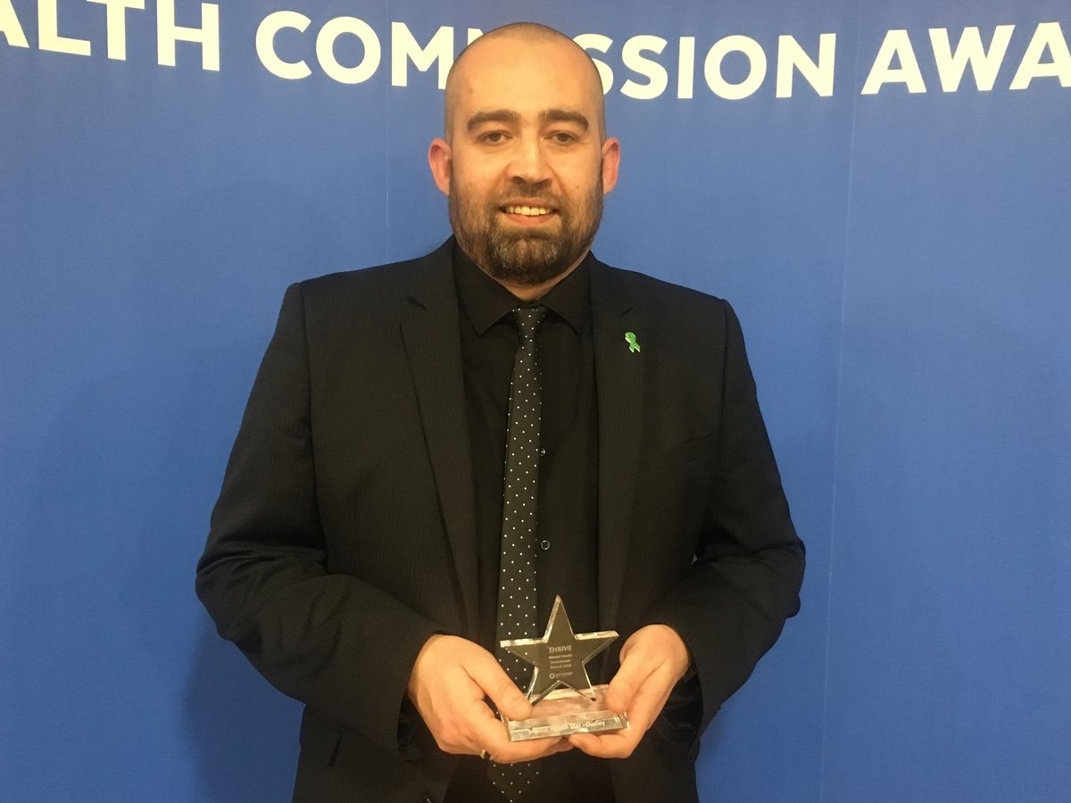 Jon Mansell was named a Mental Health Star at the Thrive Mental Health Commission Awards 2018