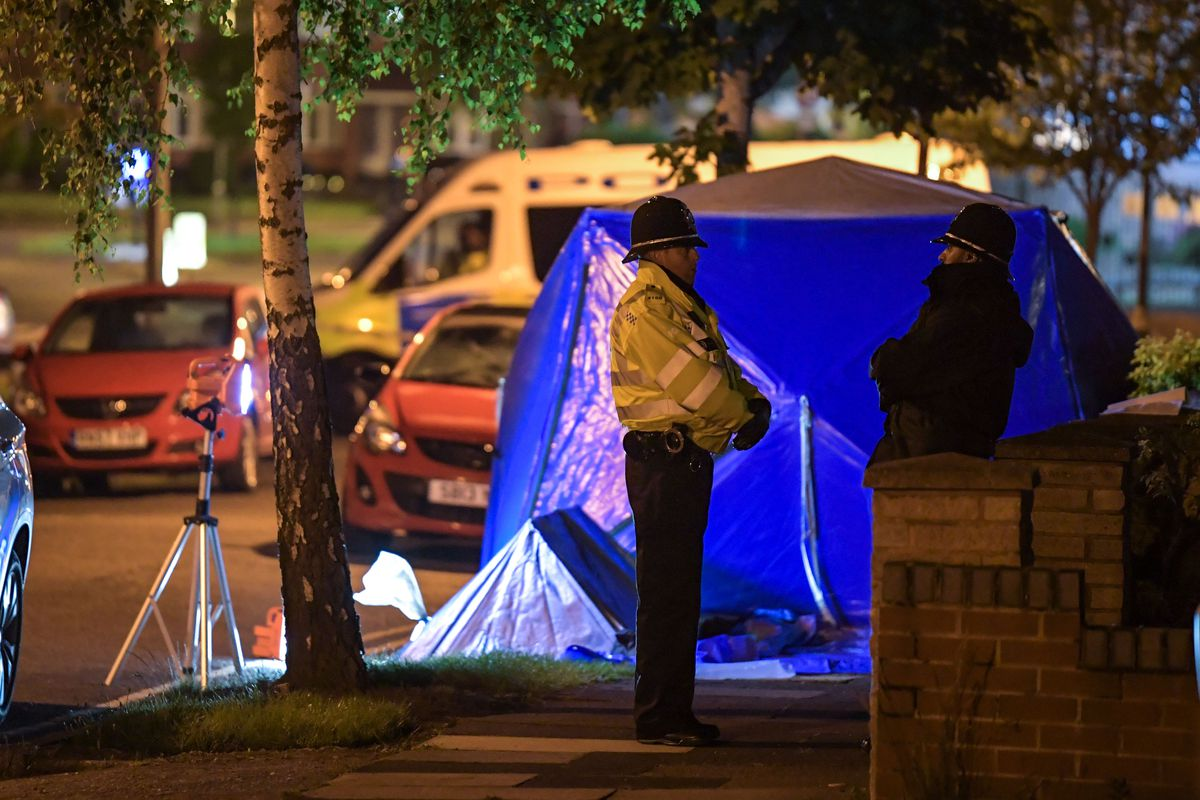 The scene in Cardington Avenue, Great Barr, where a man was stabbed to death. Photo: SnapperSK