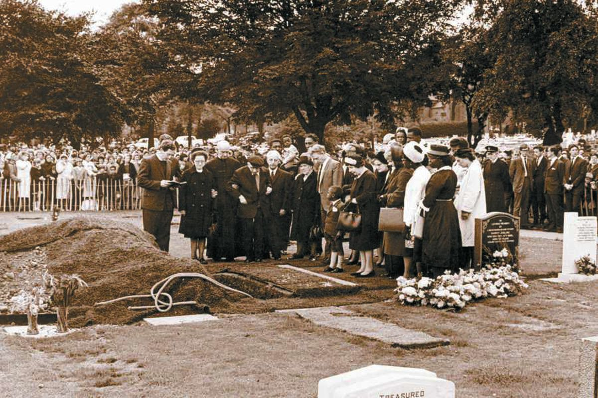 Hundreds of mourners attend the funeral of schoolgirl Christine Darby, who was raped and murdered by Morris