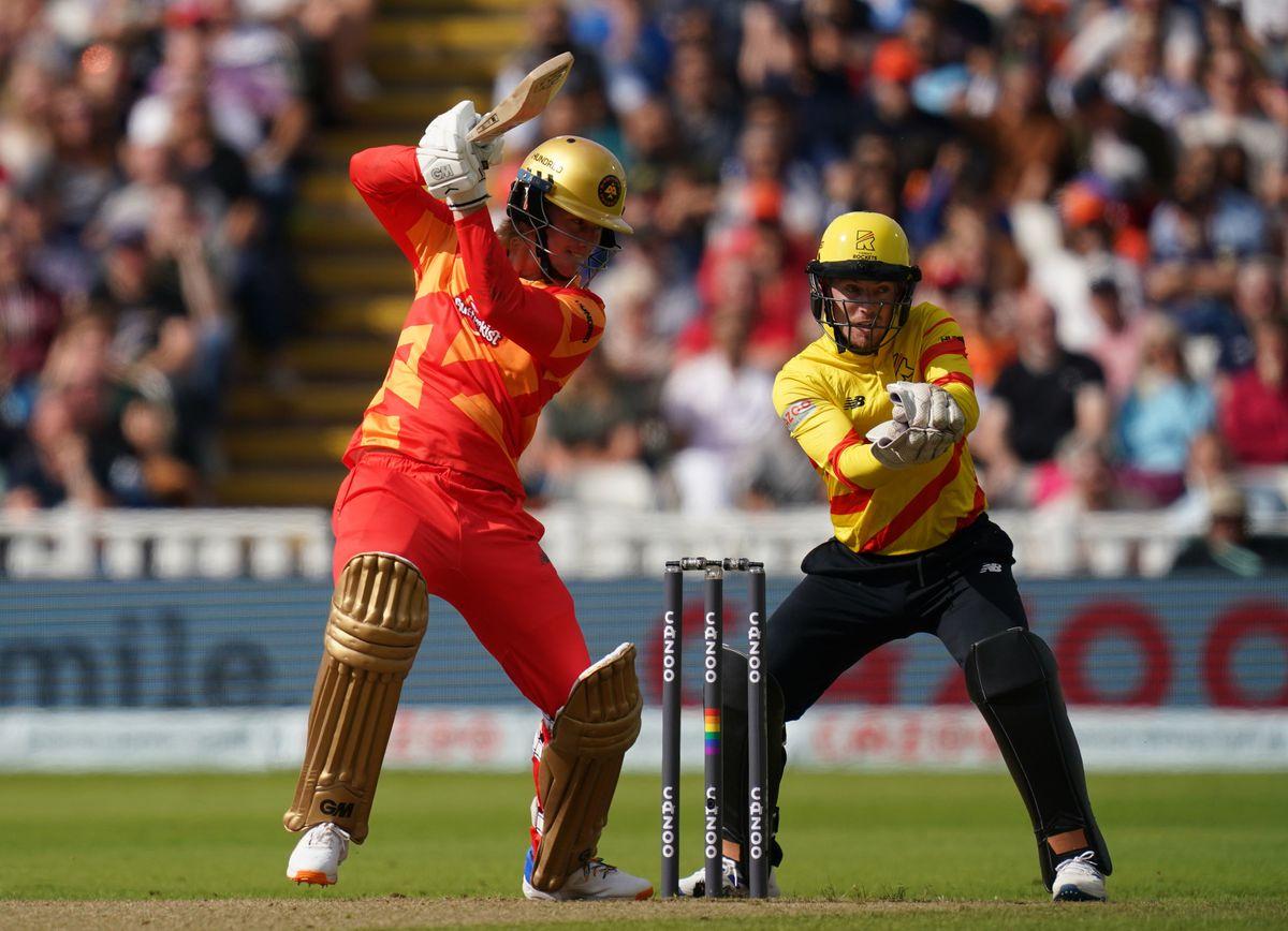 Birmingham Phoenix's Miles Hammond (left) batting a