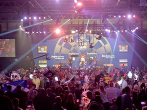 WOLVERHAMPTON  COPYRIGHT TIM STURGESS Express & Star ......... 09/11/19 10.30 .   The Grand Slam of Darts has returned to Wolverhampton's Aldersley Leisure Centre..