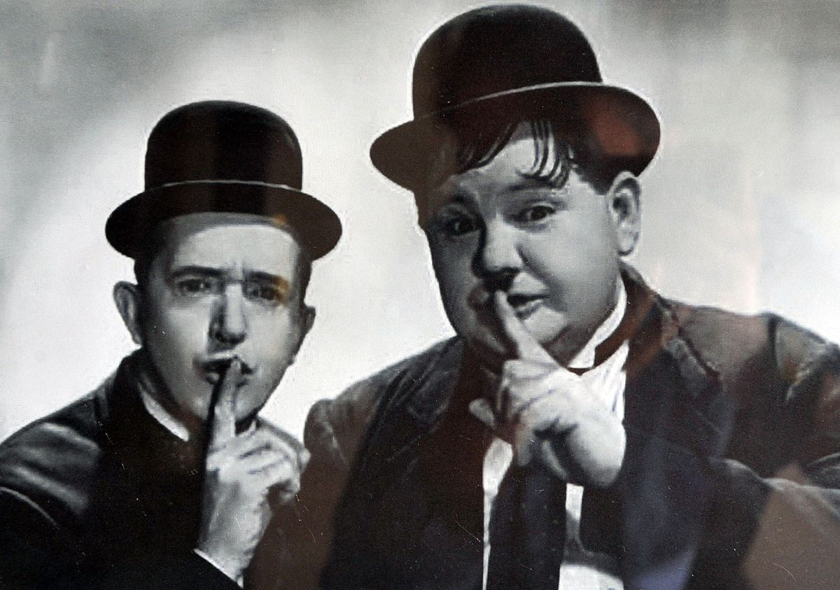 Laurel and Hardy 'rocked' Dudley Hippodrome in 1947