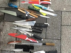 PICTURED: Deadly haul of knives dumped in West Bromwich High Street surrender bin