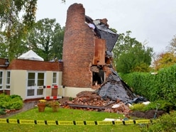 Road closed on safety concerns after gas explosion damages windmill