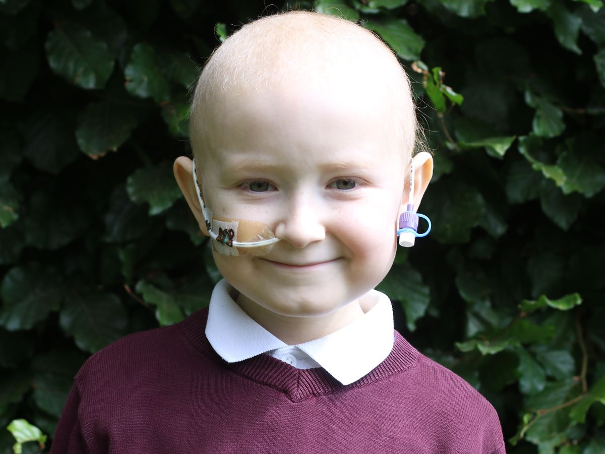 Jamie, aged six, who was diagnosed with Leukaemia earlier this year.