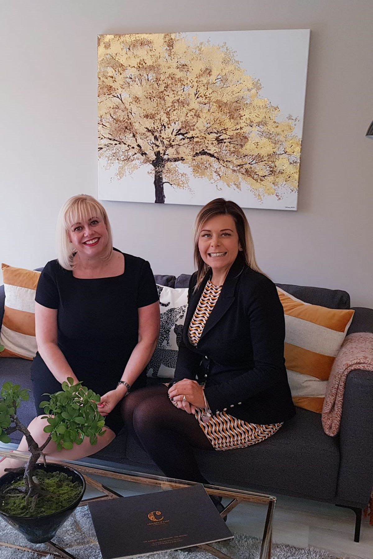 Donna Smith, left, sales director of BJD, with Claire Drewett, regional sales director of the haart Land and New Homes team