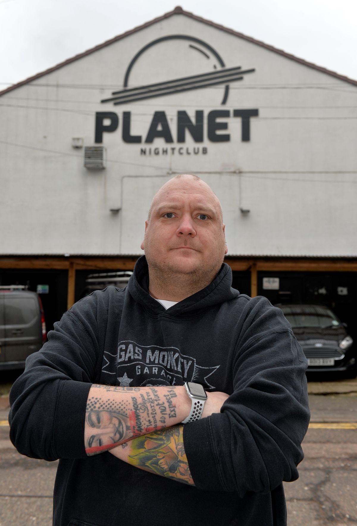 Michael Ansell outside his Planet Nightclub