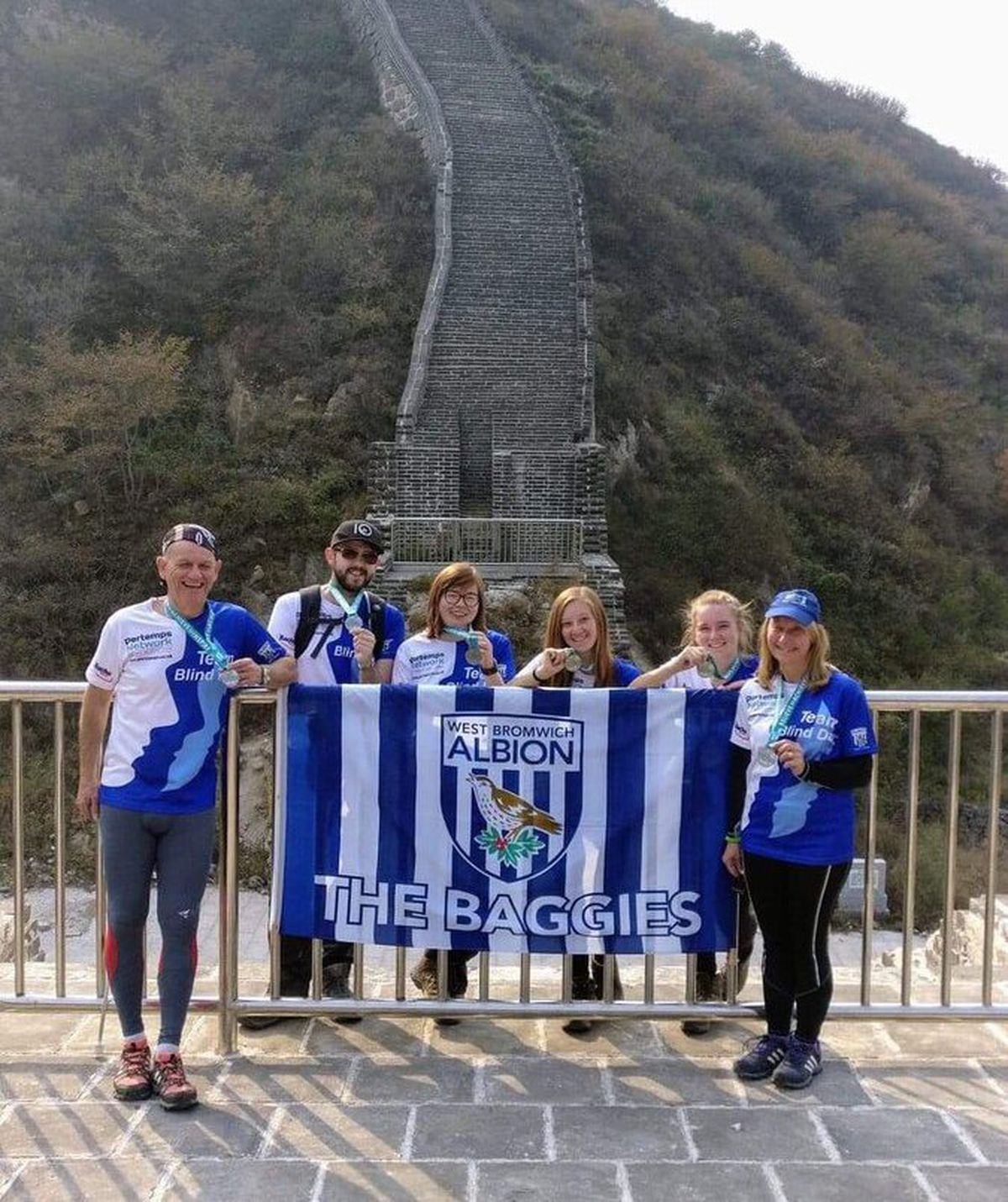 Dave travelled with his family and others to trek along the Great Wall of China
