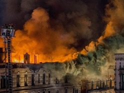 Nine injured in large fire at apartment building in New York