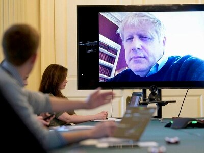 Boris Johnson to chair Cabinet by videolink as he self-isolates