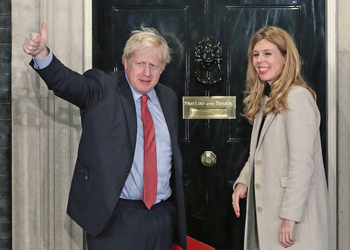 Boris Johnson returns to Downing Street with girlfriend Carrie Symonds
