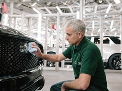 Jose Mourinho stuns staff as he stops off to see Jaguar F-Pace roll off the production line