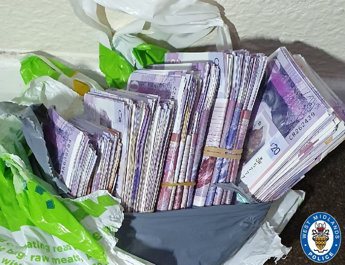 Cash seized by police