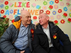WATCH: Ross Kemp joins the Labour campaign in Wolverhampton