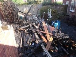 Home ruined as shed fire spreads in Halesowen