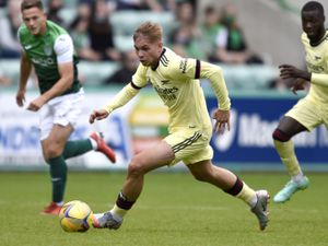 Arsenal's Emile Smith Rowe during the pre-season match at Easter Road, Edinburgh.