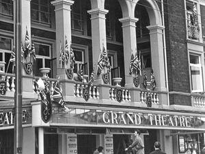Grand Theatre decorated for the coronation, 1953