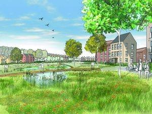An artist's impression of Stanmore Garden Village