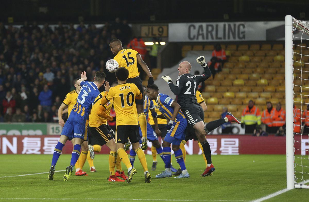 James Bolton of Shrewsbury Town scores a goal to make it 1-1 (AMA)