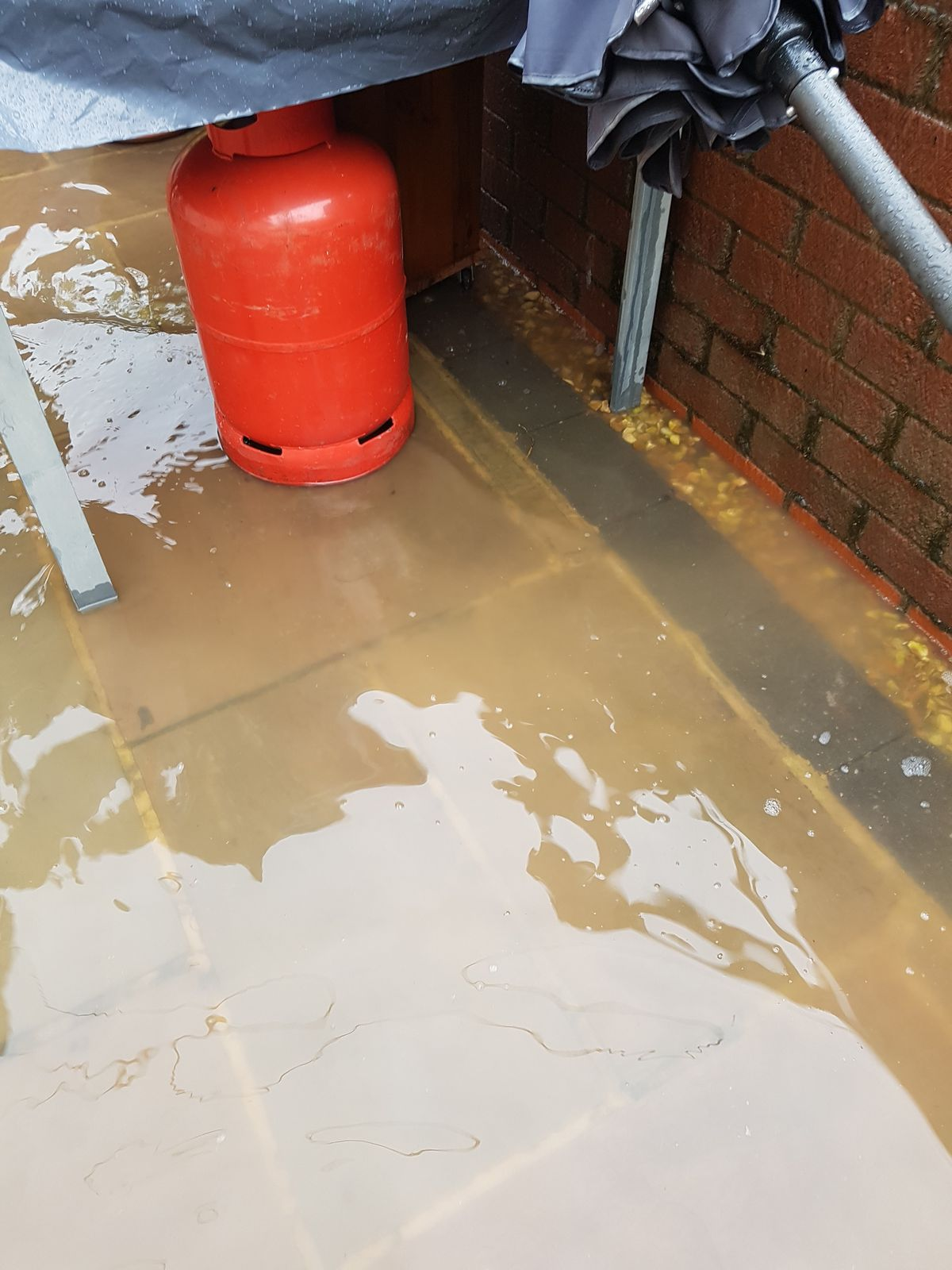 Severn Trent is assessing damage at homes following the sewage leak