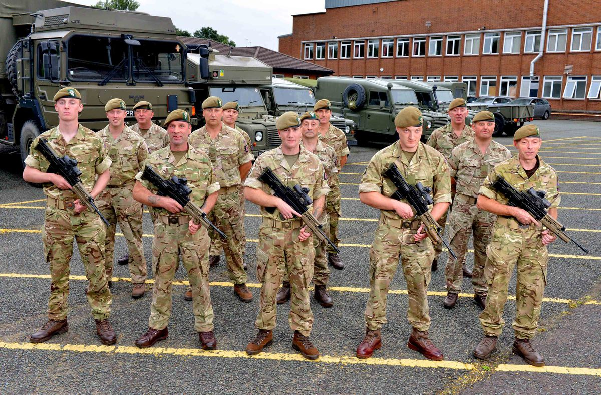 In training - the 4th Battalion, The Mercian Regiment
