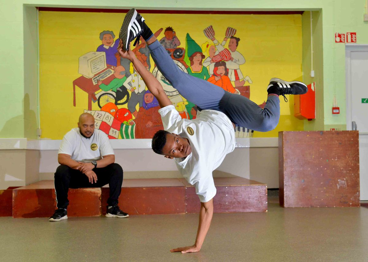 WOLVERHAMPTON COPYRIGHT EXPRESS AND STAR STEVE LEATH 22/02/2019..With video: MARK ANDREWS FEATURE: Pic in Wolverhampton , inside ones are in Ellerton House, and then some just outside. Pics of AJ Cypher Cat (Breakdance champion) and also on some his Dad: Pablo Brown ( he runs a breakdance school). Story on Breakdance in light of the proposed inclusion in the Olympics..