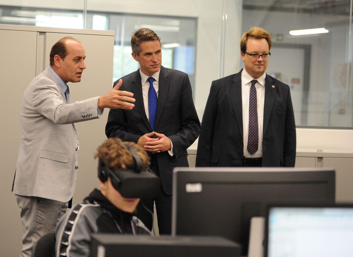 The MPs are shown around Dudley College