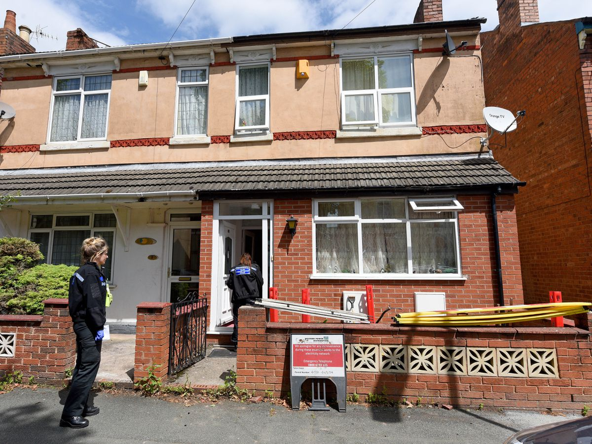About 100 cannabis plants were found in a house in Allen Road, Wolverhampton