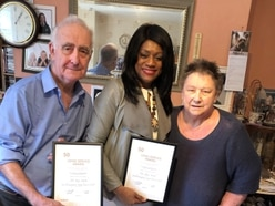 Long service awards for Labour stalwarts Steve and Joyce