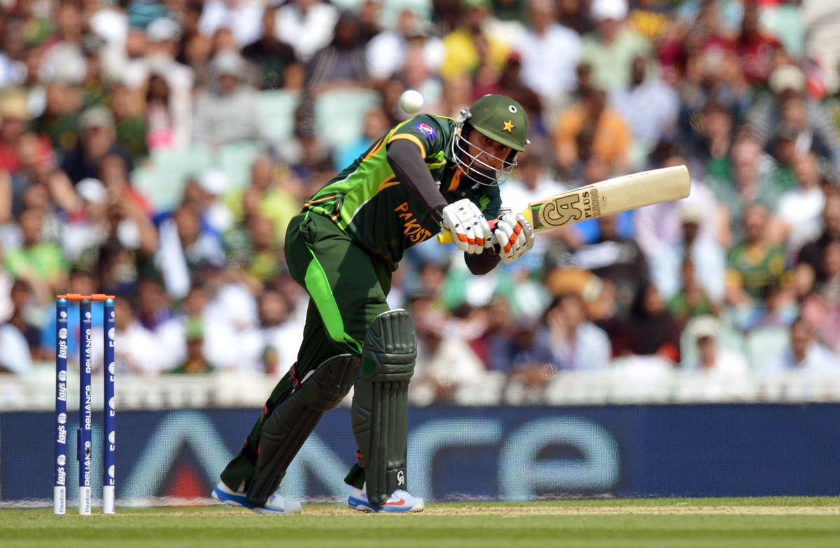 Nasir Jamshed in action for Pakistan in 2013