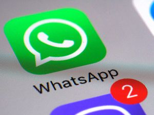 The WhatsApp communications app on a smartphone