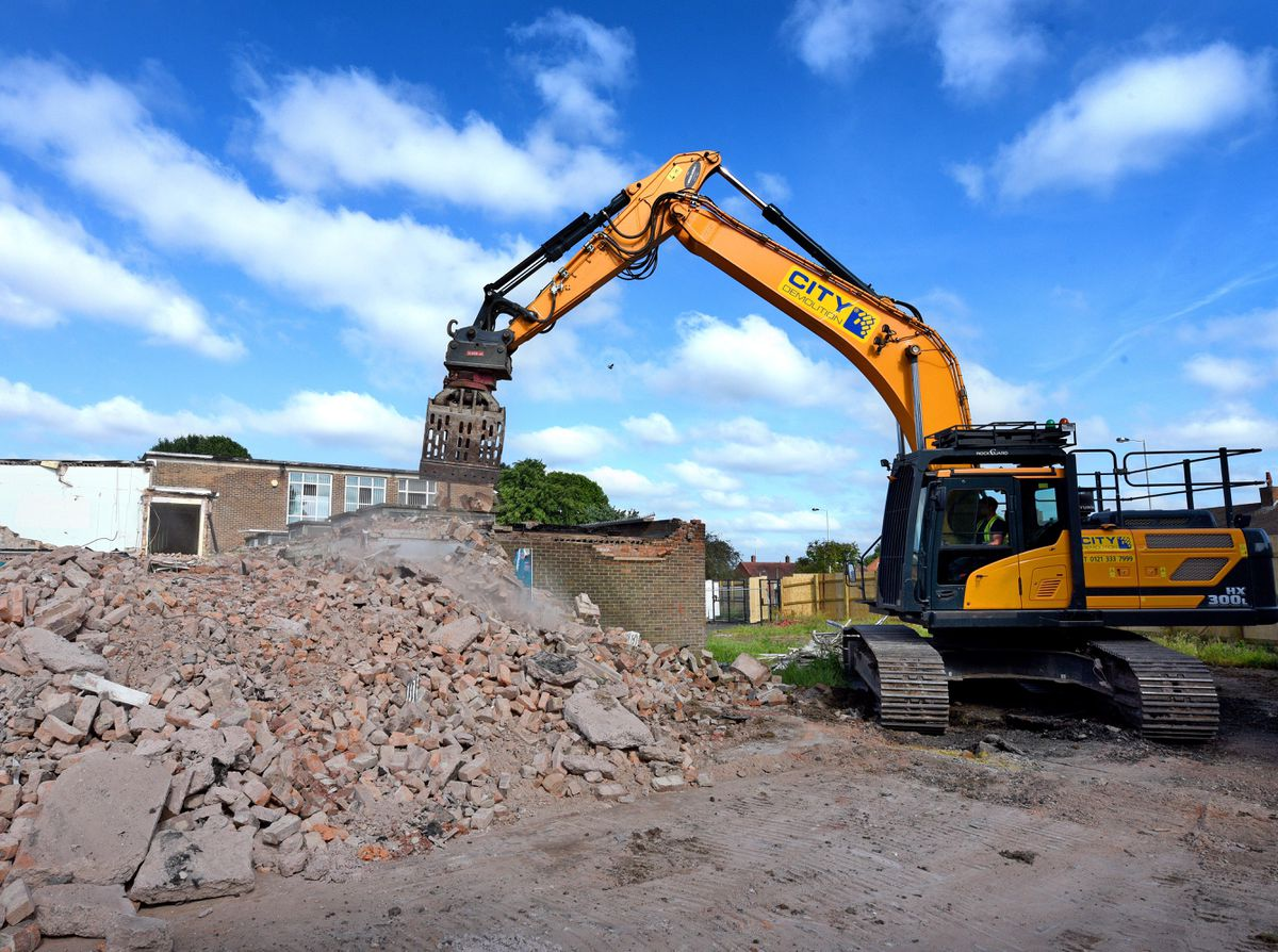 The former Northicote School site, Northwood Park Road, during the demolition.