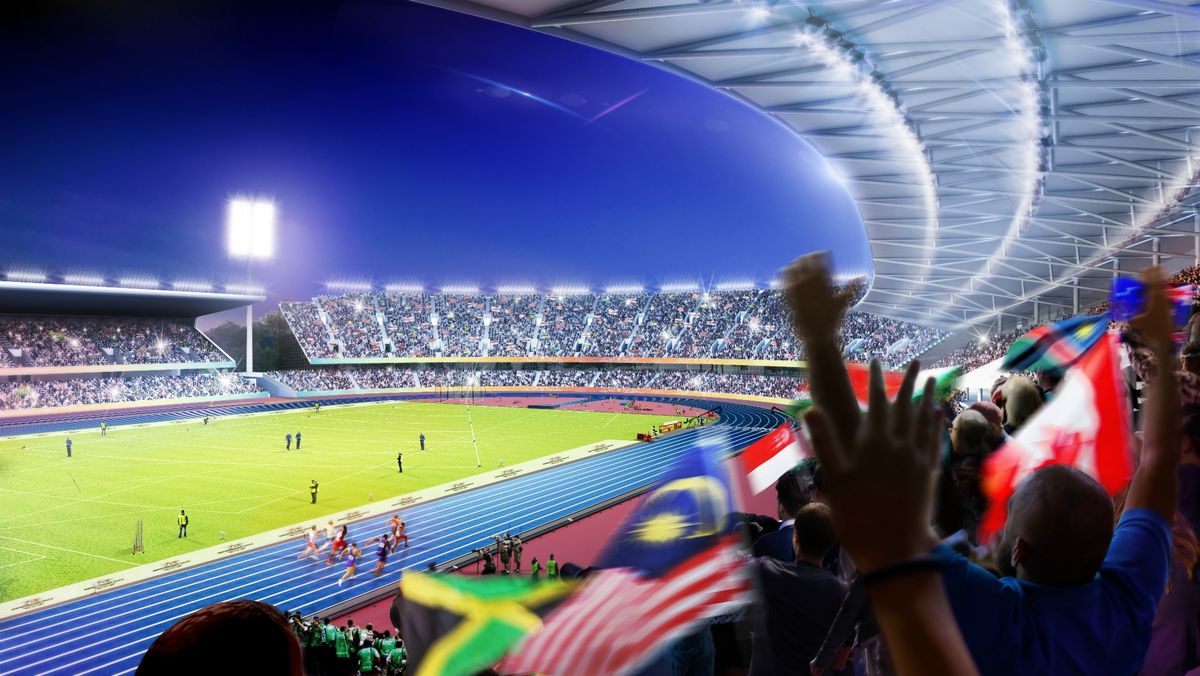 A promotional image of how the Alexander Stadium could look for the Commonwealth Games. Photo: Birmingham City Council