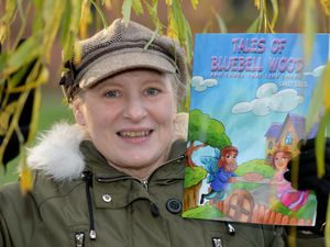 June Richardson, from Bloxwich ,who writes as Sandy Davis, with her children's book Tales of Bluebell Wood