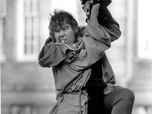 Actor Micky O'Donoughue, as Quasimodo, in St Peter's Square