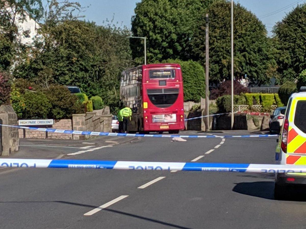A police cordon at the scene on Wolverhampton Road in Sedgley