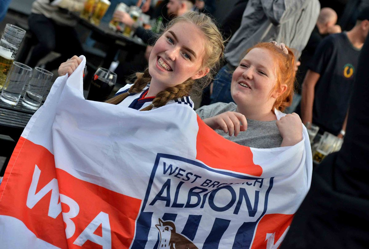 Chloe Bromwich and Millie Nicklin at The Sportsman pub in West Bromwich