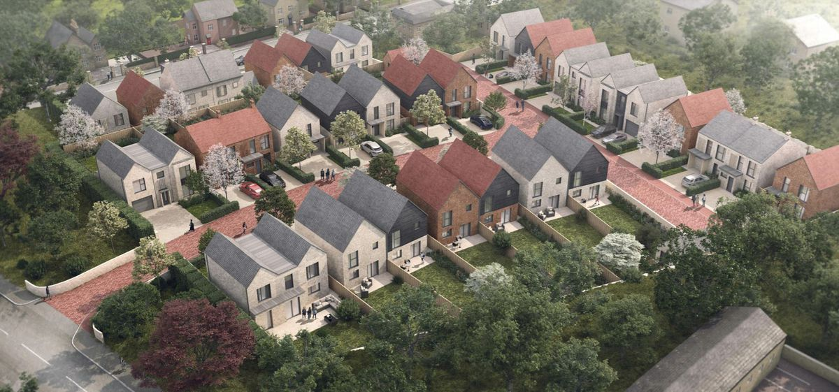 Image of how the new homes could have looked originally
