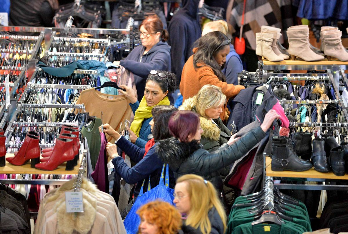 Shoppers look through Black Friday deals